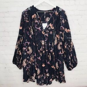 Free People Tops - ⚡️SOLD⚡️Free People Tunic Top Just the Two of Us
